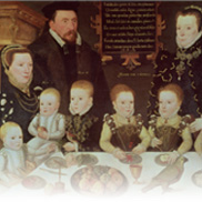 William Brooke and his Family, (Painting) by Master of the Countess of Warwick