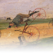 A Race between Lallement Velocipedes (Painting) by Samuel Henry Gordon Alken