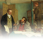 Signing the New Lease (Painting) Erskine Nicol
