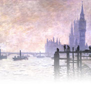 The Thames below Westminster (Painting) by Claude Monet